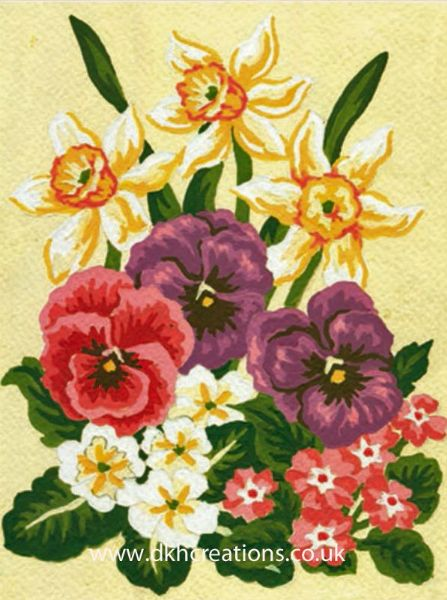 Daffodils And Pansies Tapestry Kit